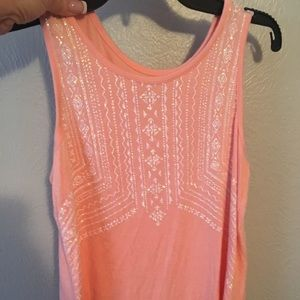 Justice size 12 sparkly tank